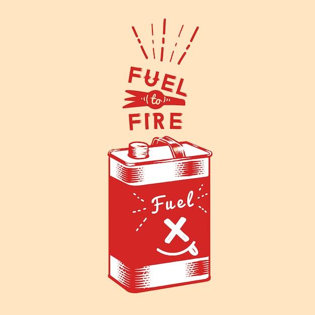 火キャニスターベクトルへの燃料 無料ベクター