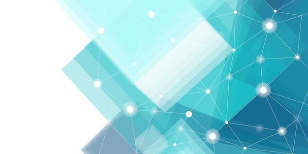 青と白の未来的な技術の背景のベクトル 無料ベクター