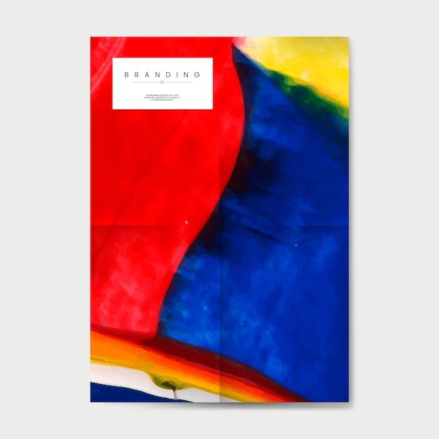 抽象的なデザインのベクトルとブランドのポスター 無料ベクター
