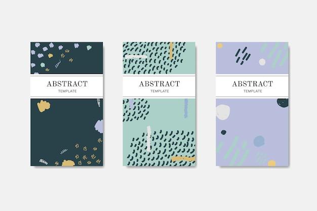Нарисованные от руки визитки с рисунком Бесплатные векторы
