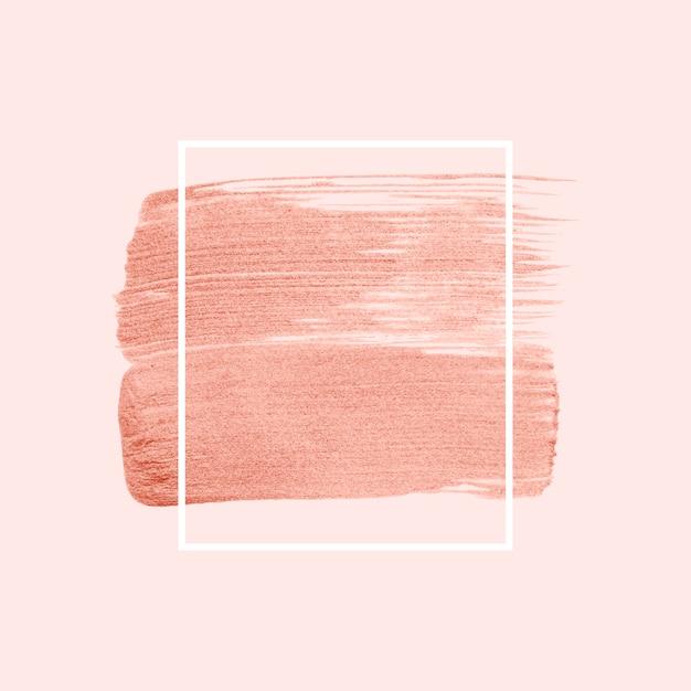 ピンクのブラシストロークバッジベクトル 無料ベクター