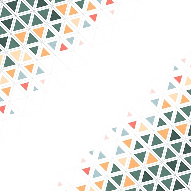 白地にカラフルな三角形模様 無料ベクター