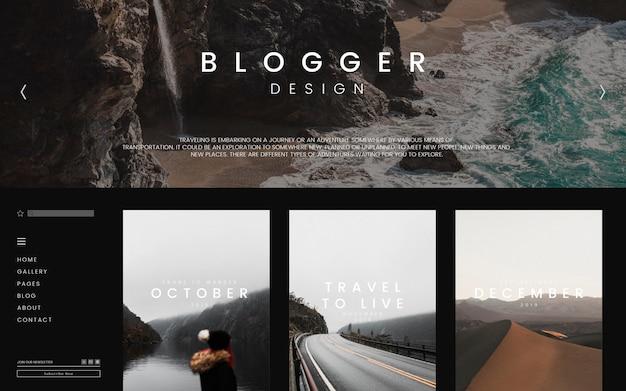 ブログメインページのテンプレート 無料ベクター