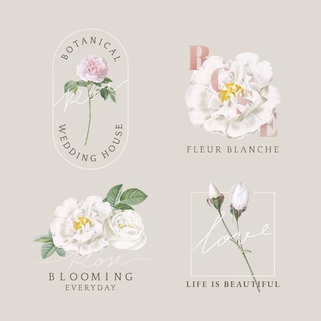 花柄カードコレクション 無料ベクター