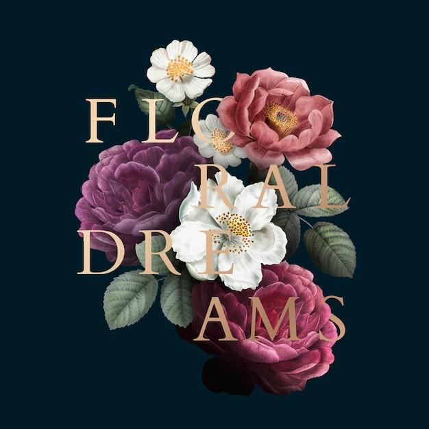 Знак цветочных снов Бесплатные векторы