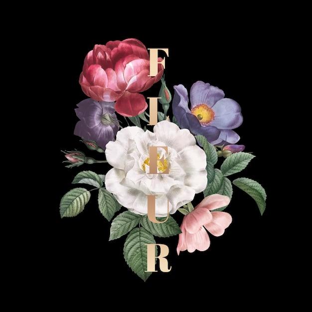 Цветочная эмблема флер Бесплатные векторы
