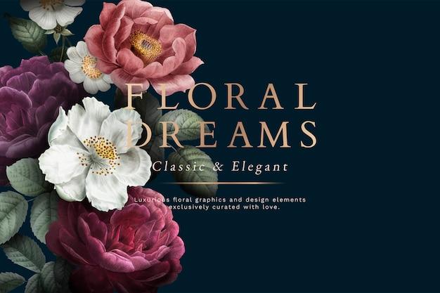 花の夢カード 無料ベクター
