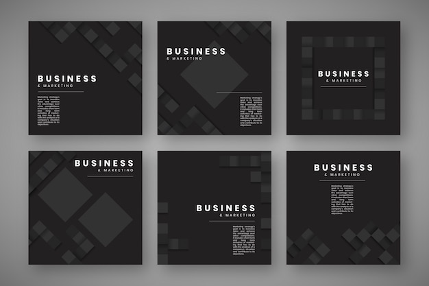 シンプルなデザインのウェブサイトのテンプレート 無料ベクター