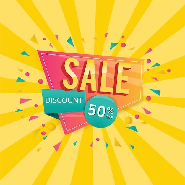 Знак продажи за полцены Бесплатные векторы