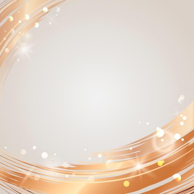 黄金の波の抽象的な背景のベクトル 無料ベクター