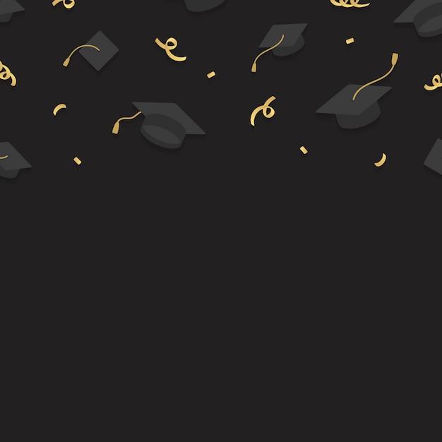 Рамка для выпускных шляп Бесплатные векторы