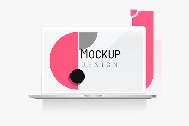 デジタル機器のモックアップ 無料ベクター