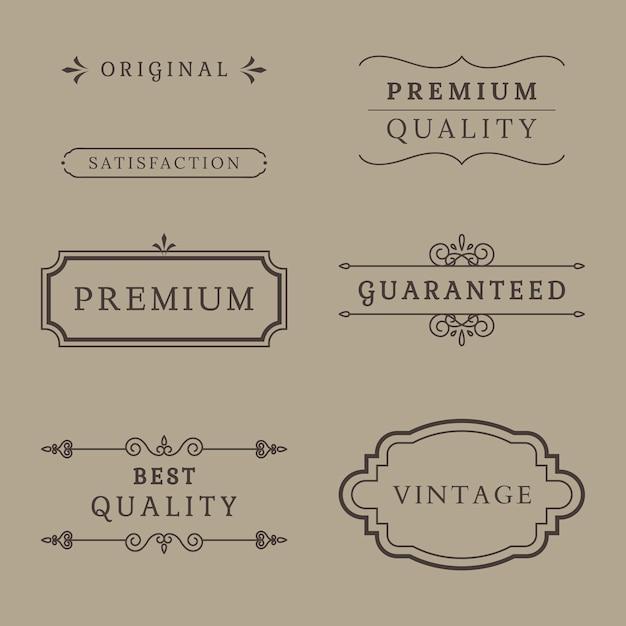 プレミアム品質のバナーコレクション 無料ベクター