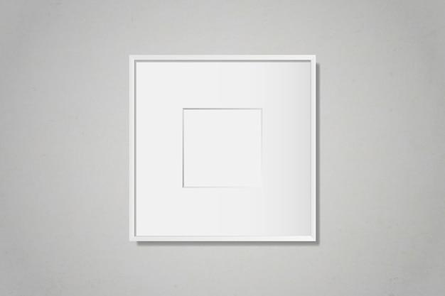 壁に白い空白の枠 無料ベクター