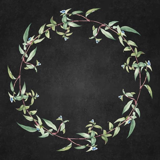 Зеленый цветочный фон Бесплатные векторы