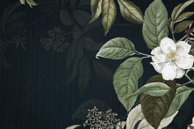緑の花の背景 無料ベクター