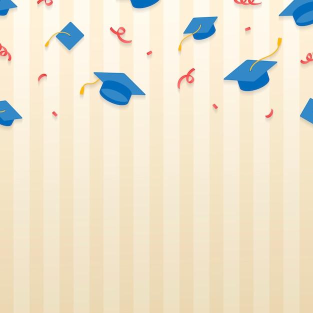 Академические шапки Бесплатные векторы