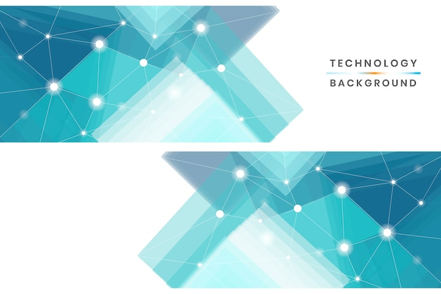 Набор технологических баннеров Бесплатные векторы