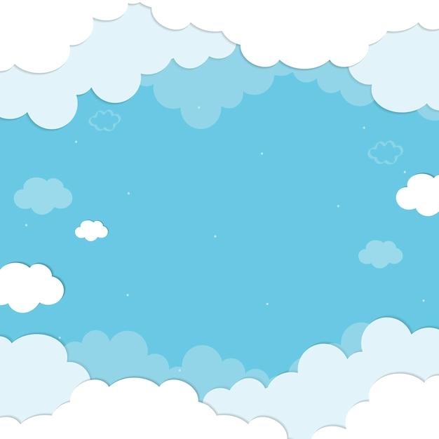 Фон облака Бесплатные векторы