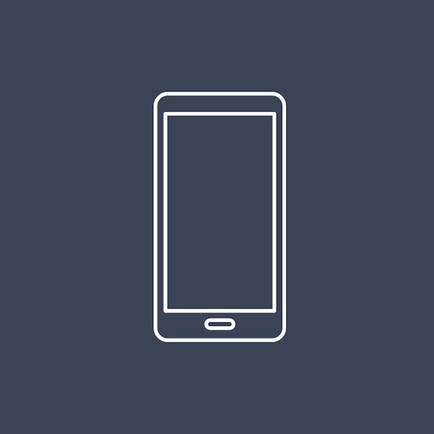 Вектор значка мобильного телефона Бесплатные векторы