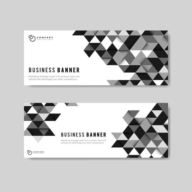 ビジネス抽象バナーセット 無料ベクター