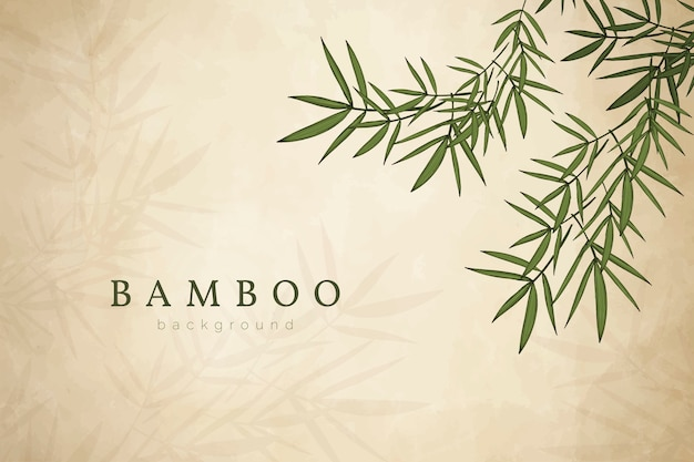 竹の葉の背景 無料ベクター