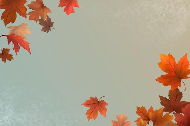 秋の葉の背景 無料ベクター