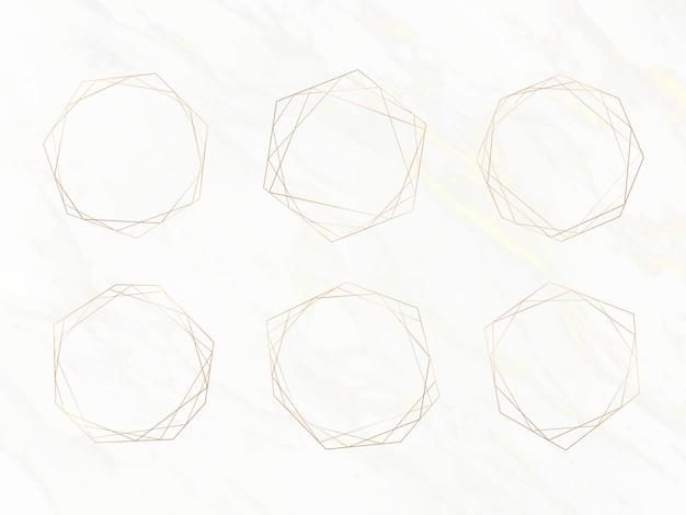 Золотая роскошная рамка Бесплатные векторы