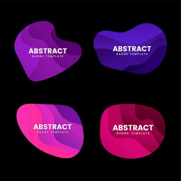抽象的なバッジデザインベクトルを設定 無料ベクター