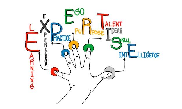 ビジネス専門知識のイラストレーション 無料ベクター