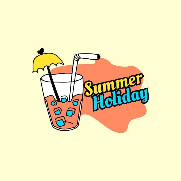 夏休みバッジ 無料ベクター