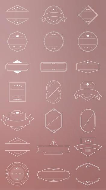 Набор пустых значков Бесплатные векторы