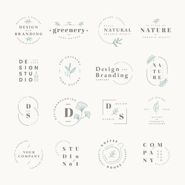 Набор логотипов Бесплатные векторы