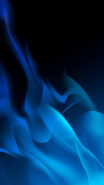 青い炎の背景 無料ベクター
