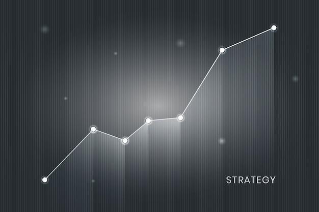 事業成長グラフ 無料ベクター