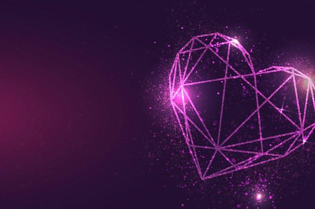 Розовое сердце баннер Бесплатные векторы
