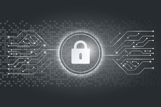 サイバーセキュリティの概念 無料ベクター