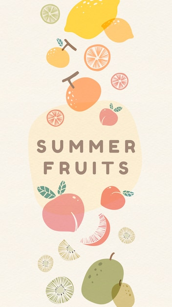 新鮮な夏の果物 無料ベクター