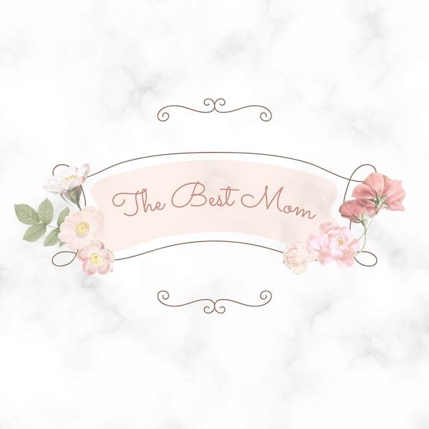 母の日おめでとう。ベストママレタリング 無料ベクター