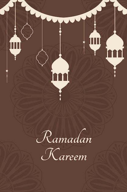 Рамадан мубарак дизайн плаката Бесплатные векторы