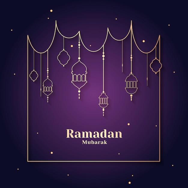 Рамадан в рамке Бесплатные векторы