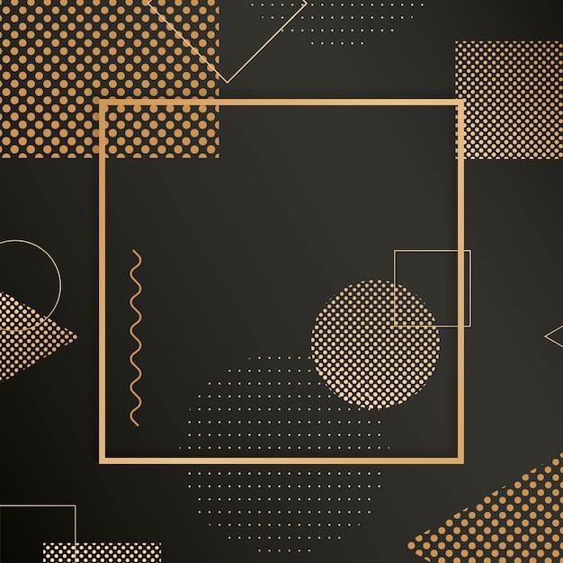 Золотая рамка фон Бесплатные векторы