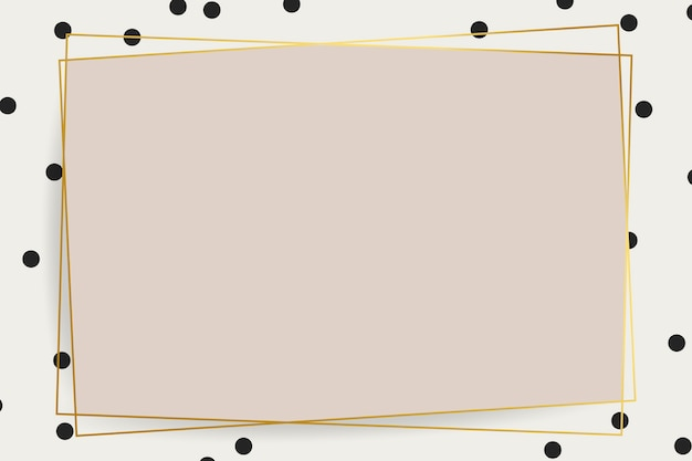 Современная золотая рамка Бесплатные векторы