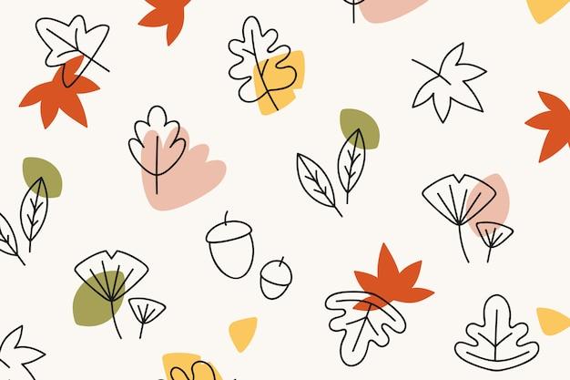 秋の模様の背景 無料ベクター