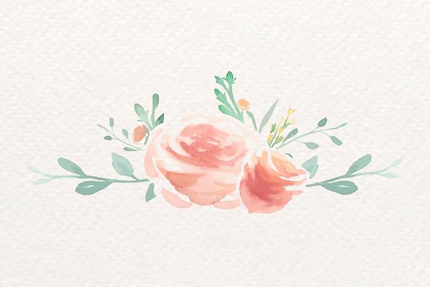 水彩画のバラ 無料ベクター