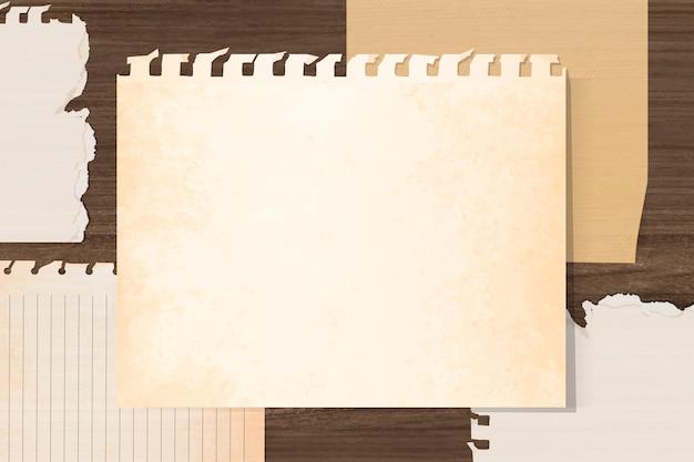 空のビンテージノートブック紙 無料ベクター