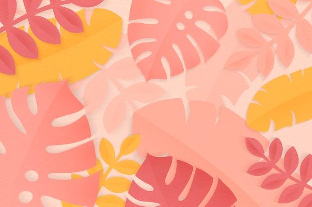 夏の熱帯のカラフルな葉 無料ベクター