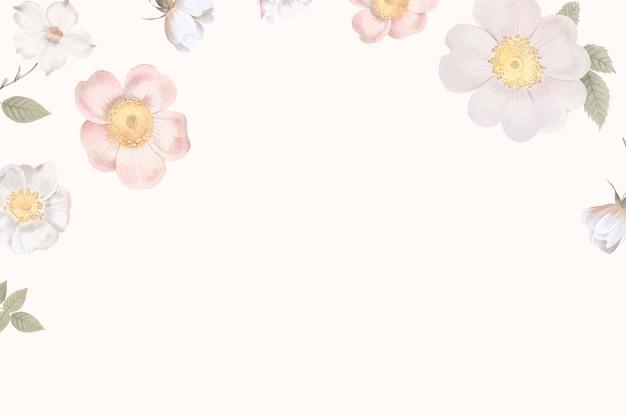 女性の花の背景 無料ベクター