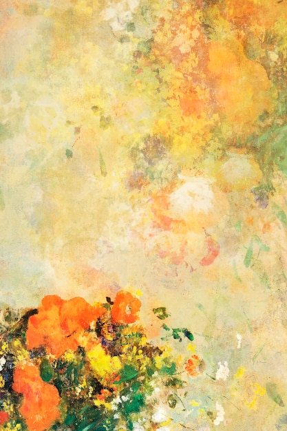 古典的な花の背景 無料ベクター