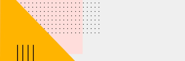 Абстрактный красочный баннер Бесплатные векторы
